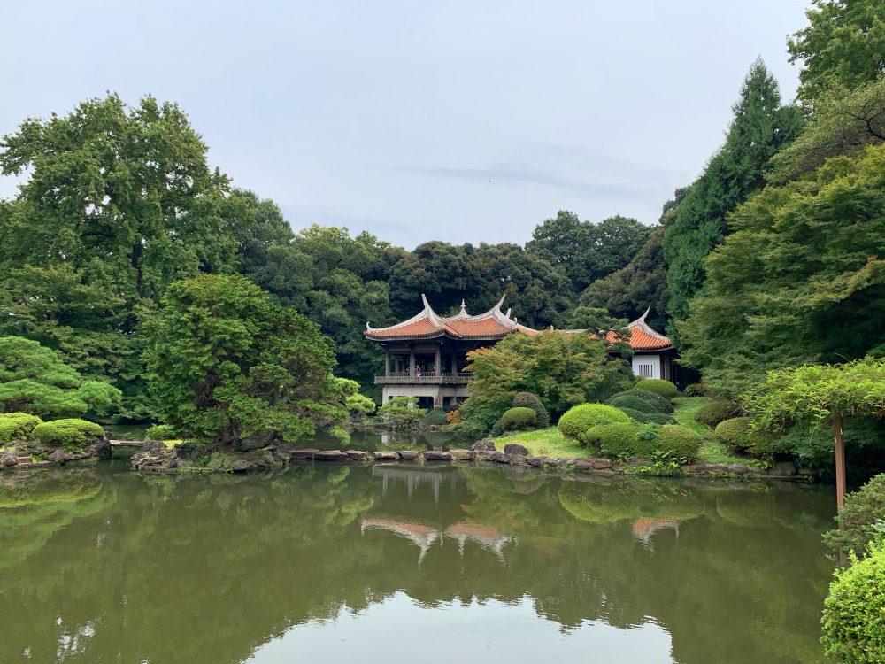 El hermoso jardín nacional Shinjuku Gyoen en Tokyo