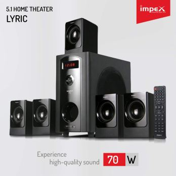 IMPEX LYRIC 70 W 5.1 Multimedia Bluetooth Speaker System (Black)