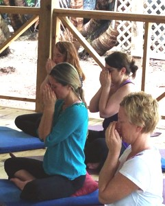 Intaking essential oils with a pranayama practice