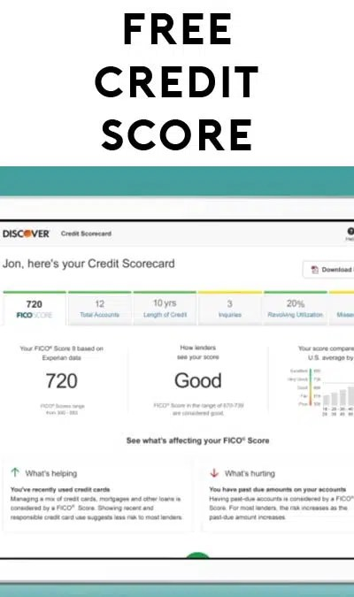 Free Experian Fico Score Report From Discover (ssn