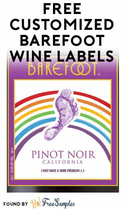 Barefoot Wine Label : barefoot, label, Customized, Barefoot, Labels, [Verified, Received, Mail], Samples