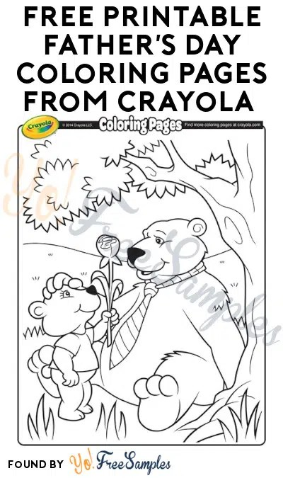 FREE Printable Father's Day Coloring Pages from Crayola