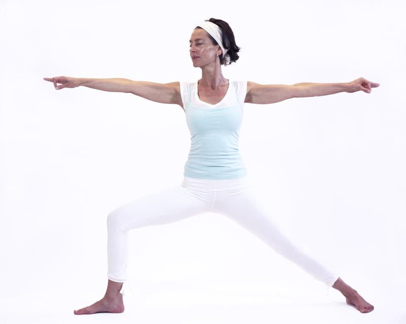 virabhadrasana II posture yoga vata yoga&vedas