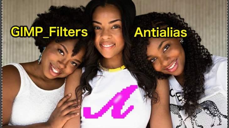 WordPress画像編集に使えるGIMPフィルター(Filters)_強調(Enhance)_なめらかに(Antialias)💘GIMP使い方💖GIMP for Mac