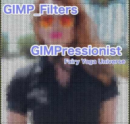 💖GIMP for Mac💘GIMP_フィルター効果(Filters)💚芸術的効果(Artistic)_GIMPressionist-絵のような処理【GIMPressionist】続**3篇_Canvasをプリセット💙