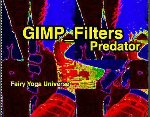 💖GIMP for Mac💘GIMP_フィルター効果(Filters)💚芸術的効果(Artistic)_プレデター(サーモグラフィー画像処理)【Predator】続**7篇_❎ピクセル化_ピクセル量💙
