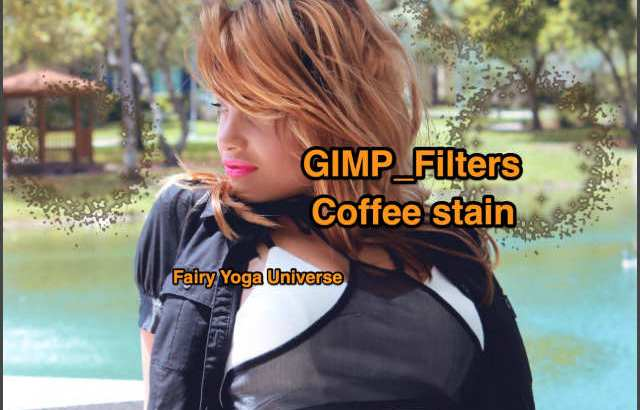 💖GIMP for Mac💘GIMP_フィルター効果(Filters)💚装飾(Decor)_コーヒーの染み【Coffee stain】default💙