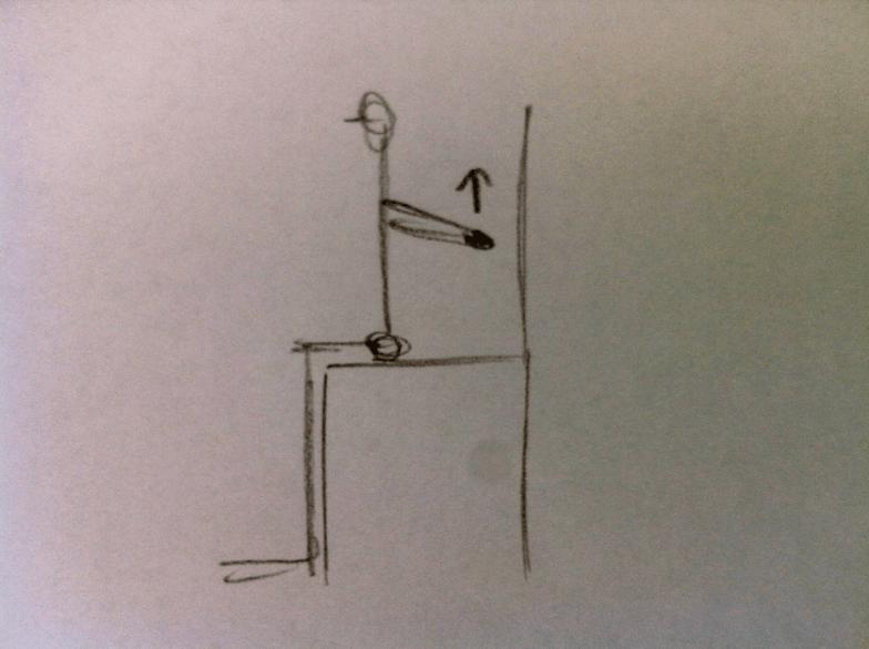 Eine Kräftigung der Schulterblattmuskeln: Die Arme hinter dem Körper verschränken, die Schultern nach hinten rollen und dann die gestreckten Arme anheben.