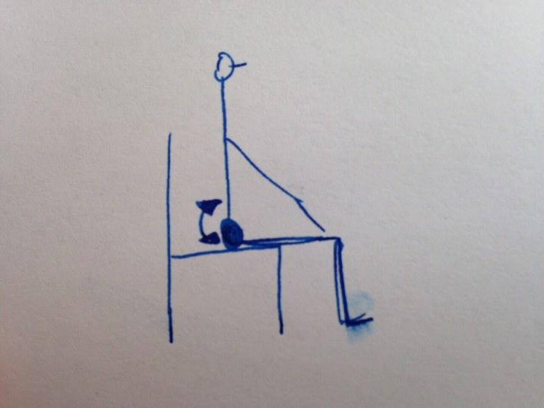 Kippbewegungen des Beckens im Sitzen, um den unteren Rücken zu mobilisieren