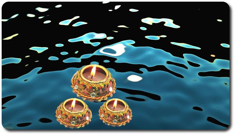 Velas flotando redondeadas
