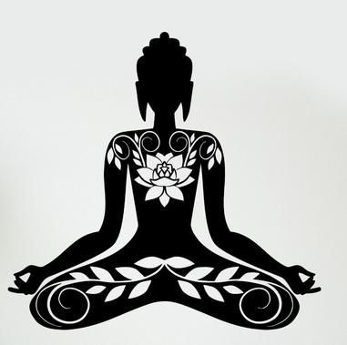 buddha-vinyl-decal-buddha-meditation-mantra-font-b-zen-b-font-yoga-mural-art-wall-sticker
