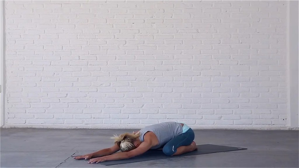 Wide-Knee Child's pose is a hip-opening variation.