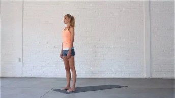 Mountain pose is a classic yoga pose that brings the mind into focus and the body into alignment.