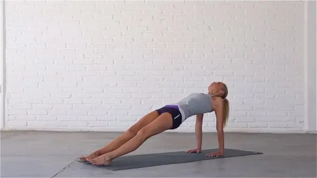 Upward Facing Plank opens up the chest.