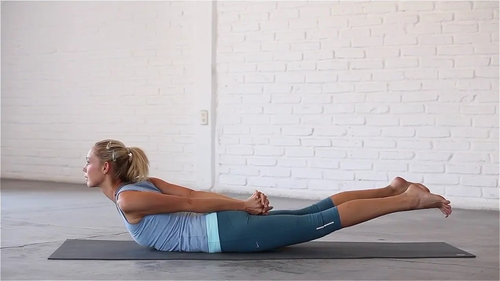Advanced Locust opens up the chest and shoulders and strengthens the posterior chain.