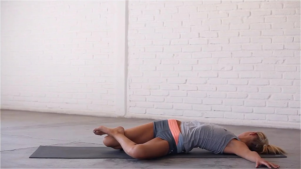 Knee-Down Twist is one of the best IT band and TFL stretches.
