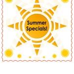 2017 Summer Specials Graphic
