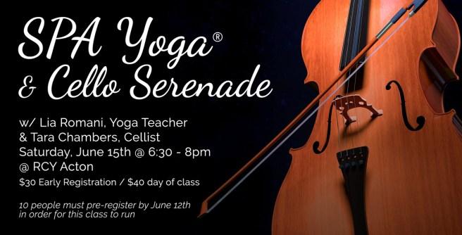 SPA Yoga® & Cello Serenade | Revolution Community Yoga of