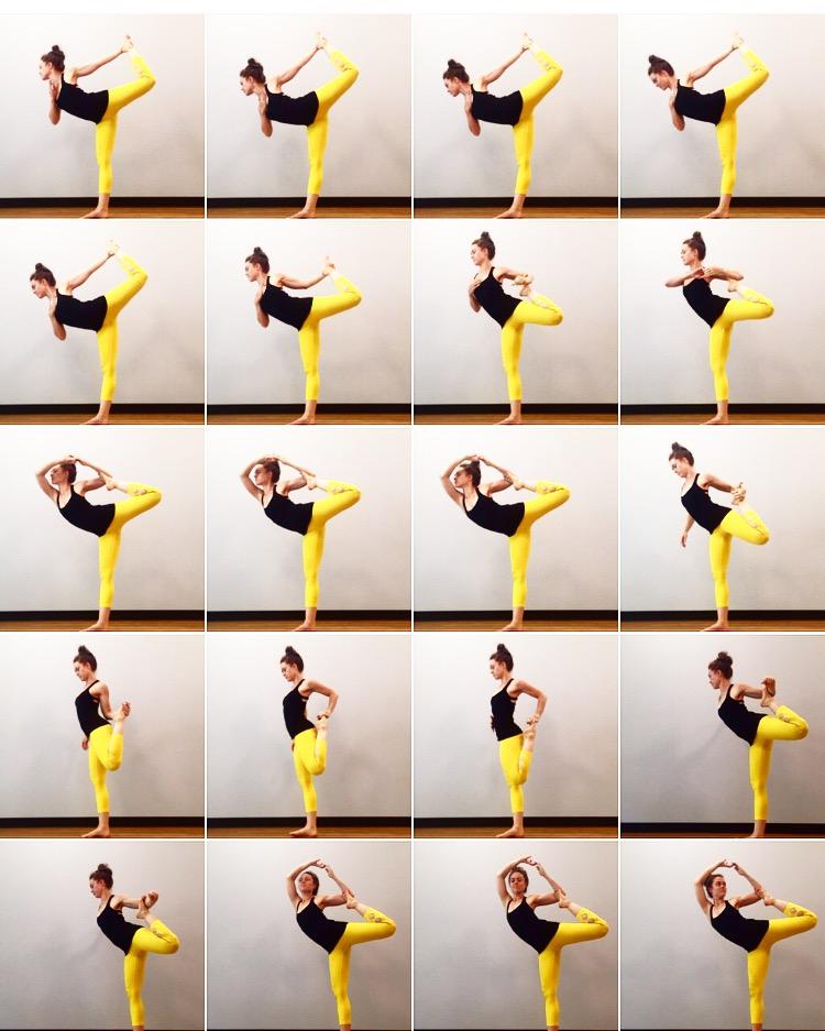 Dancer Pose Yoga Sequence : dancer, sequence, Dancer, Sequence, YogaWalls