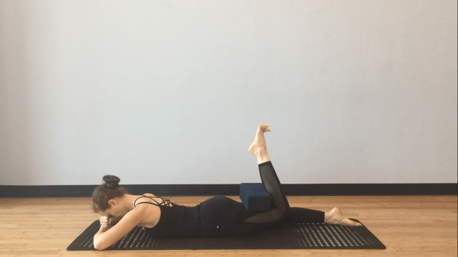 hamstring isometric, yoga, hamstring curl, creative ways to use yoga blocks