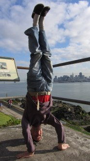 Alcatraz Headstand, San Franscisco, USA