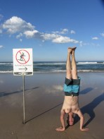 Surfers Paradise Headstand, Gold Coast, NSW, Australia