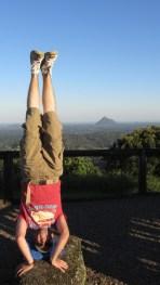 Glass House Mountains Headstand, QLD, Australia