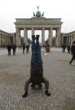 Brandenburg Gate Headstand, Berlin, Germany
