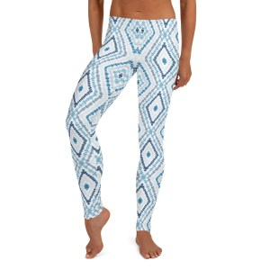 Marine Batik Print Yoga Leggings