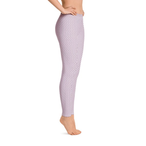 Lavender Tribal Dot Yoga Leggings