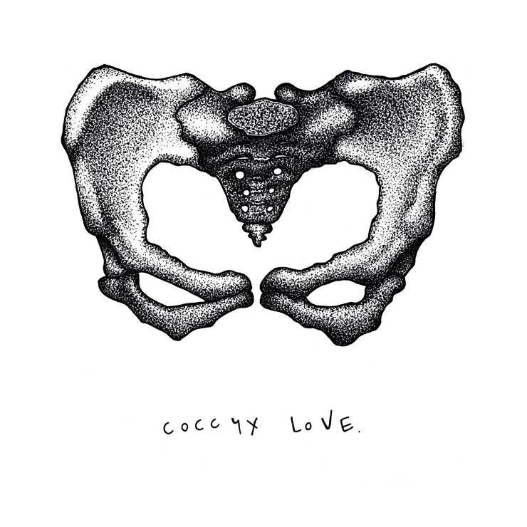 Coccyx Love by Samantha Ritchie, Ritchie Artwork