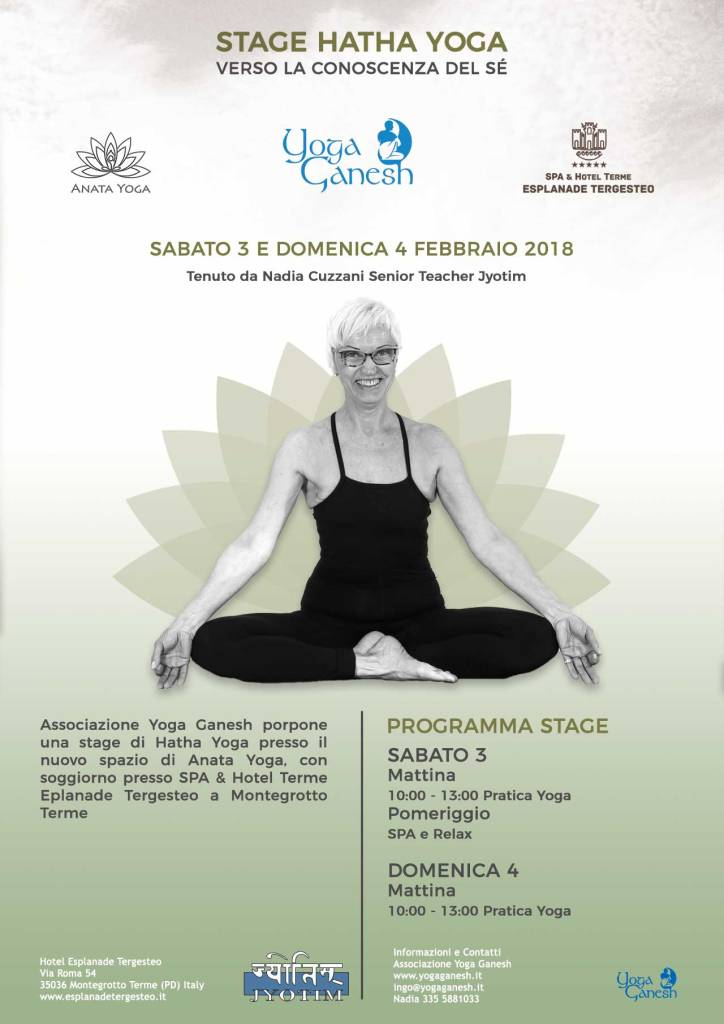 Flyer Stage Yoga Montegrotto