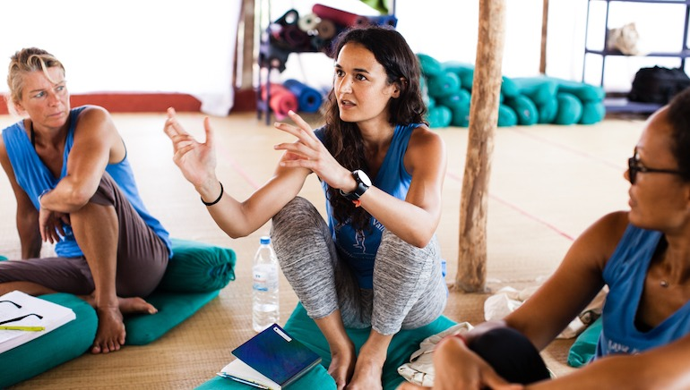 500 Hour Yoga Teacher Training Student Asking Question