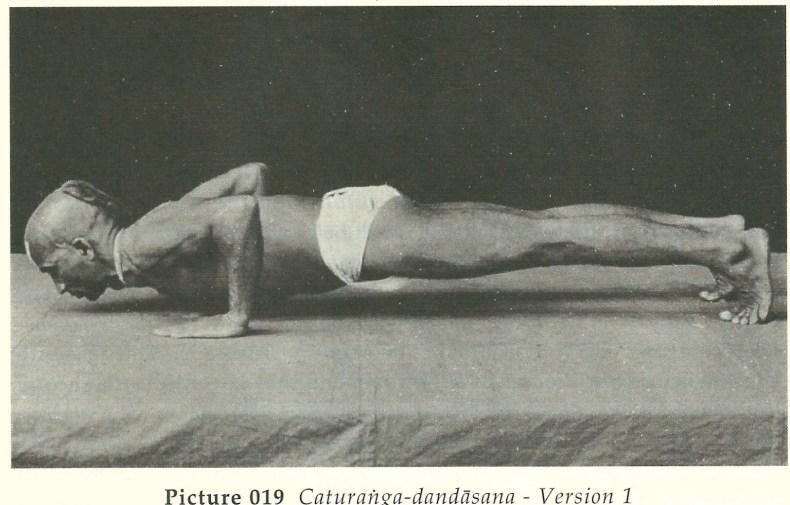 Ashtanga Vinyasa Yoga guru doing asana