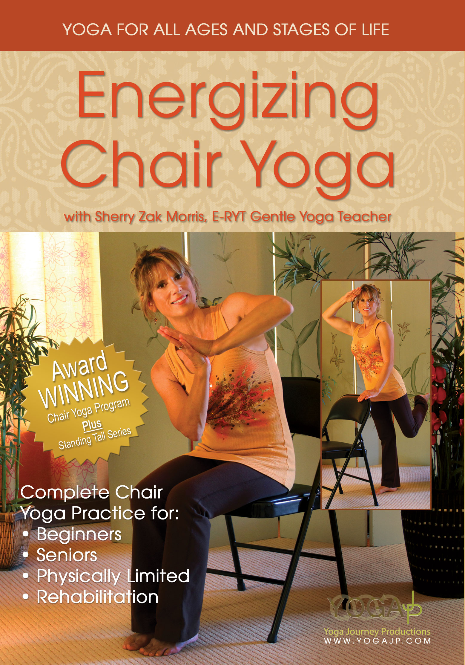 chair yoga for seniors cover hire richmond energizing dvd with sherry zak morris  yogajp