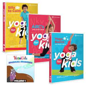 YogaKids 1,2 and 3 DVDs and Musical Musings
