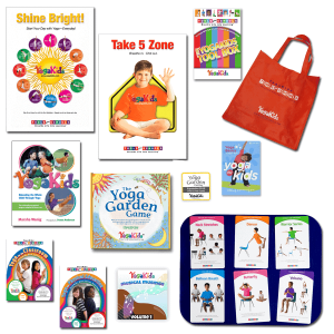 YogaKids Tools for Schools Classroom Bundle2 Posters, 5 DVDs, YK Book, Yoga Garden Game, Tote Bag, MP3 Musical Musings, Pose Card Toolbox, Tac-on mat