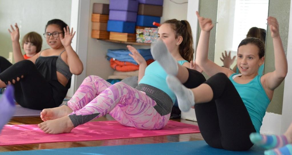 Children in a YogaKids Class