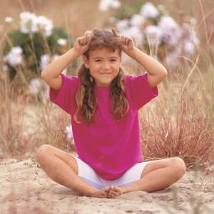 girl in butterfly pose