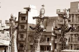 dusshera les effigies de Ravan