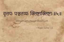Yoga Sutra I.5 traduction la nature des vrtti