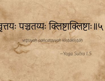 Yoga Sutra I.5 traduction la nature des vrtti