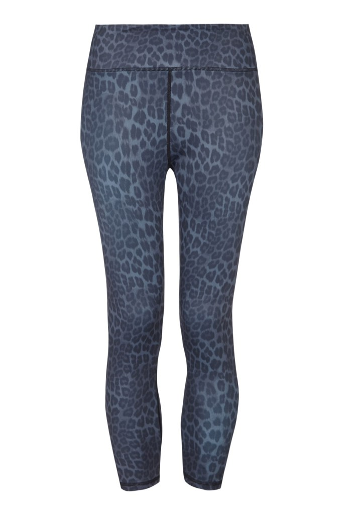 Grey Leopard Short Leggings_F