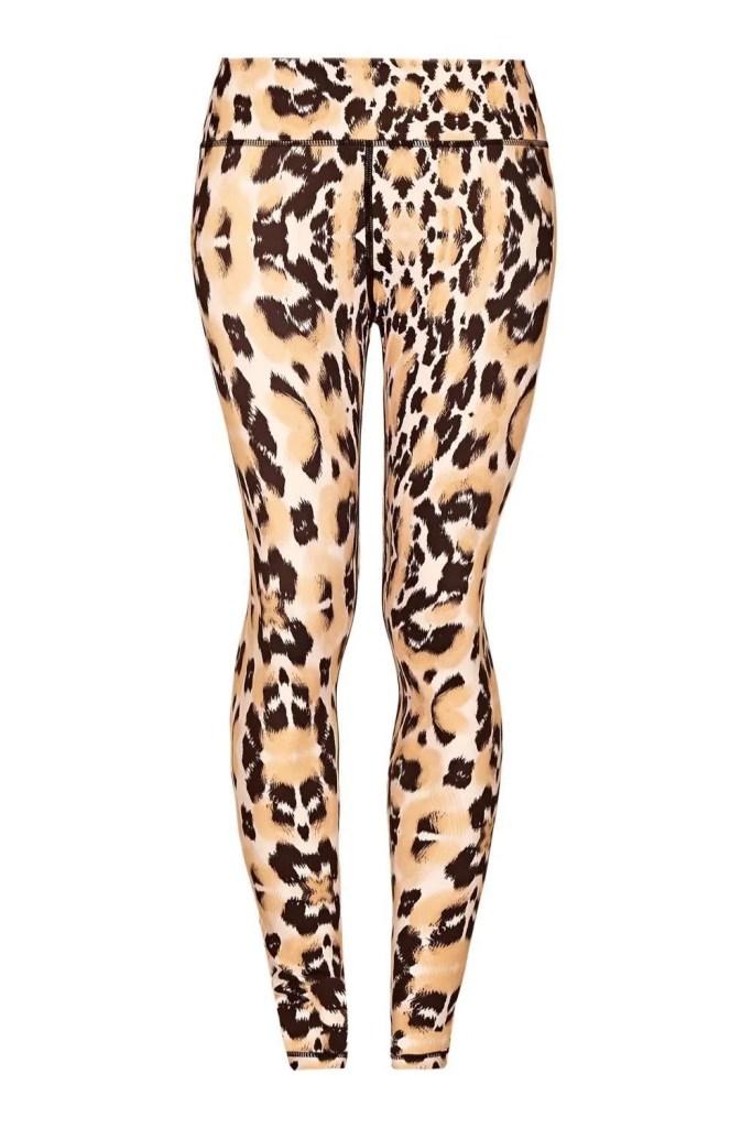 Tan Leopard Yoga Leggings