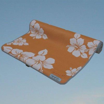Joogamatto kukkakuviolla – oranssi