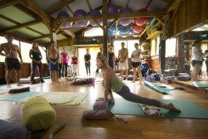 yoga studio background poster mana