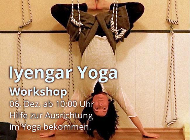 Iyengar Yoga Workshop am 06. Dezember