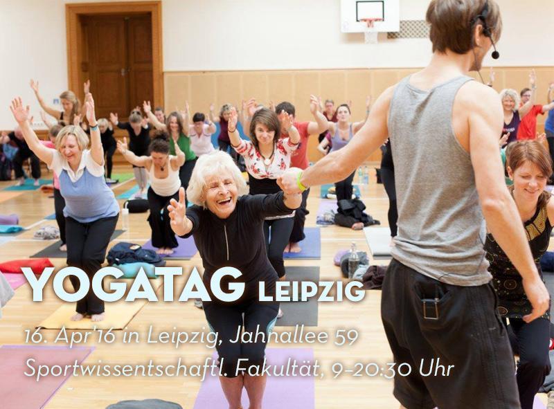 16. Apr. ist Leipziger Yogatag – Alle Yogastile an einem Tag erleben.