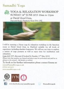 June 2015 Yoga Workshop