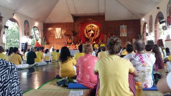 Satsang in Siva Hall